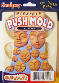 "Пресс-форма Sculpey EZ Release Push Mold ""Art Doll Faces\"""